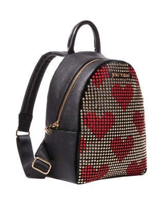 Steve Madden Superstud Studded Backpack Red