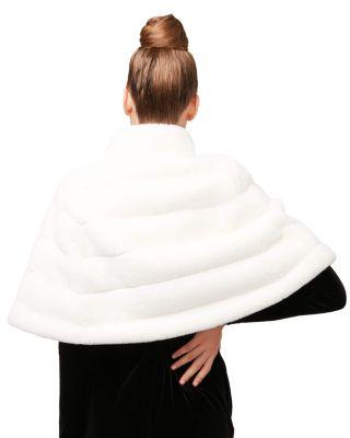Steve Madden White Out Faux Fur Capelet White