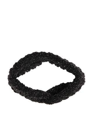 Steve Madden Glitterati Headband Black