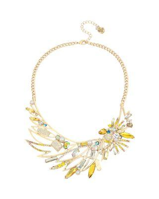 Steve Madden Statement Critters Cockatoo Necklace Yellow