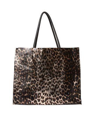 Steve Madden In A Flash Large Shopper Tote Leopard