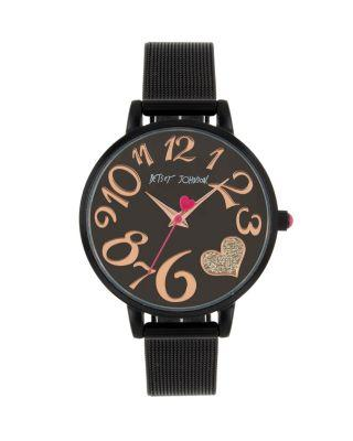 Steve Madden Color Time Black Heart Watch Black