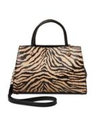 Steve Madden Bow You See It Tiger Removable Bow Satchel Tiger