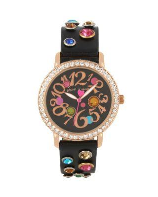 Steve Madden Bejewelled Betsey Black Watch Black