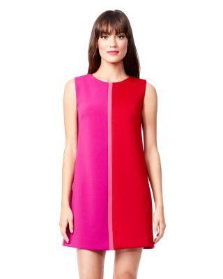 Steve Madden Mod Colorblock Shift Dress Pink Multi