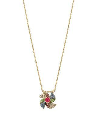 Steve Madden Summer Minis Pinwheel Necklace Multi