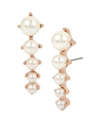 Steve Madden Not Your Babe Lobe Cuff Earrings Ivory