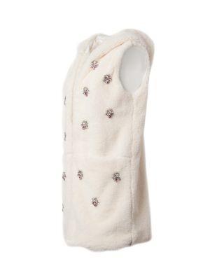 Steve Madden Crystal Clear Hooded Vest Black
