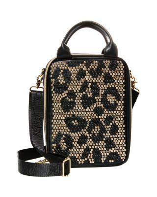 Steve Madden Studly Lunch Tote Leopard