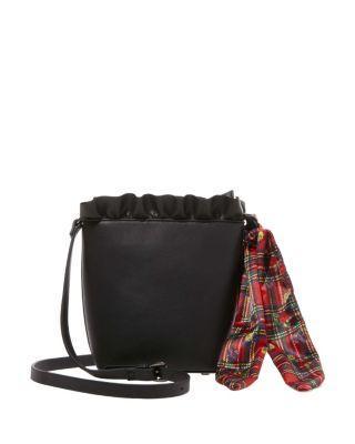 Steve Madden Ruffles For Days Small Bucket Bag Black