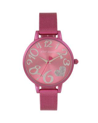 Steve Madden Color Time Pink Heart Watch Pink