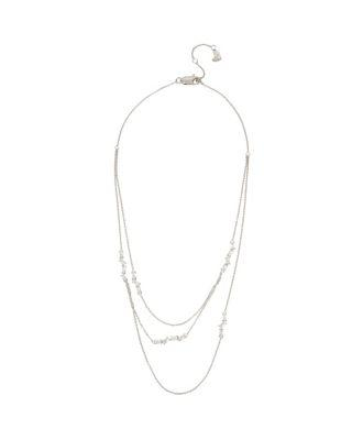 Steve Madden Betsey Blue Jazz Illusion Necklace Crystal