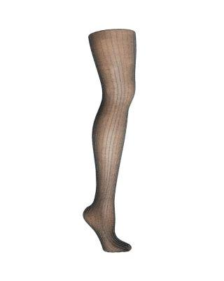 Steve Madden On The Town Lurex Striped Tights Black