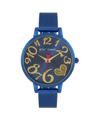 Steve Madden Color Time Black Blue Watch Blue