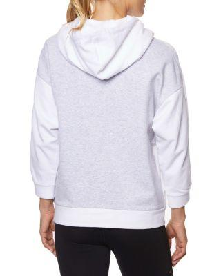 Steve Madden Colorblock Track Hoodie White