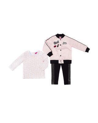 Steve Madden Pink Lady Too 4-6x 3 Piece Jacket Set Pink