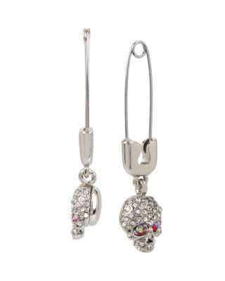 Steve Madden Duchess Of Betseyville Safety Pin Earrings Pink