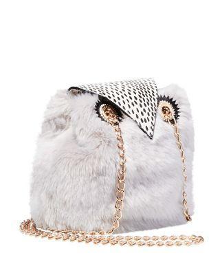Steve Madden Kitsch Give A Hoot Owl Crossbody Grey