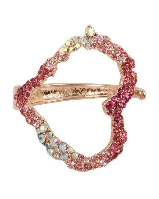 Steve Madden Not Your Babe Heart Cuff Pink