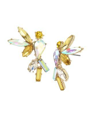 Steve Madden Statement Critters Cockatoo Stud Earrings Yellow
