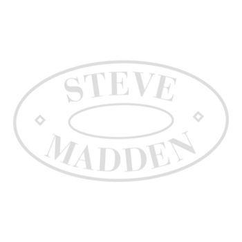 Steve Madden Betsey Blue Tuxedo Bow Pleated Wrap White