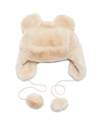 Steve Madden Twinkle Sprinkle Faux Fur Hat Ivory