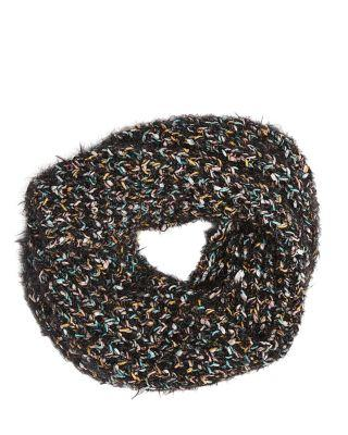 Steve Madden Spacey Knit Snood Black Multi