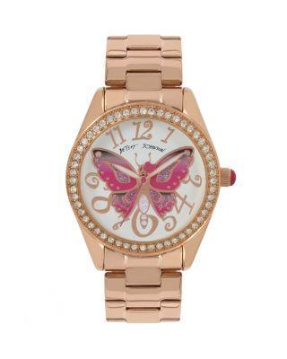 Steve Madden Butterfly Mosaic Rose Gold Watch Rose Gold