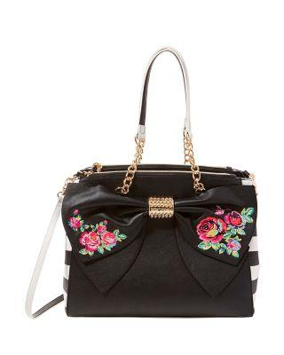 Steve Madden Belle Rose Satchel Black
