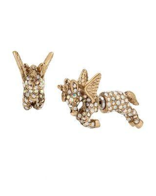 Steve Madden Summer Minis Unicorn Earrings Crystal