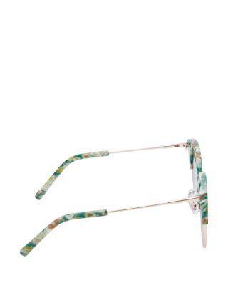 Steve Madden Animal Top Round Sunglasses Pink Multi