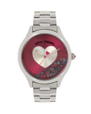 Steve Madden Betseys Boxed Shaky Heart Watch Pink