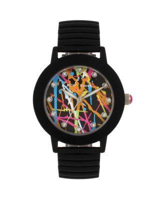 Steve Madden Betseys Boxed Rubberized Graffiti Watch Multi