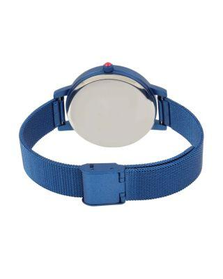 Steve Madden Color Time Blue Heart Watch Blue