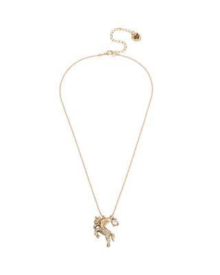 Steve Madden Summer Minis Unicorn Necklace Crystal