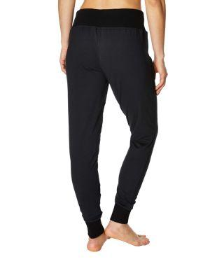 Steve Madden Jogger With Front Zipper Detail Black