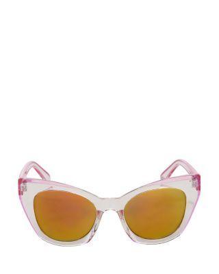 Steve Madden Oh So Mod Cat Eye Sunglasses Clear