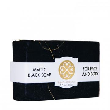 True Moringa Magic Black Soap For Face & Body