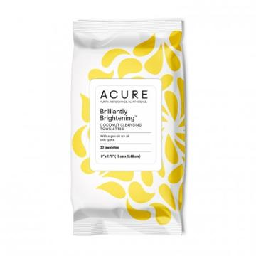 Acure Organics Brilliantly Brightening Coconut Cleansing Towelettes