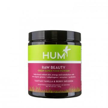 Hum Nutrition Raw Beauty Green Superfood Powder - Tahitian Vanilla & Berry