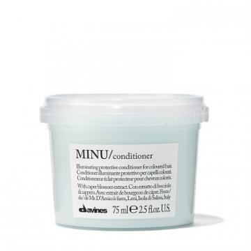 Davines Minu Illuminating Conditioner - For Color-treated Hair - Travel-size