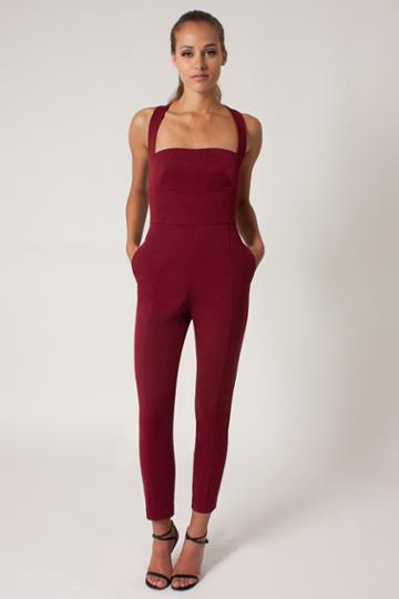 Black Halo Bene Jumpsuit In Mulberry, Size 10