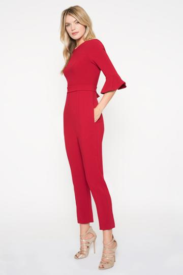 Black Halo Brooklyn Jumpsuit In Bonfire, Size 0