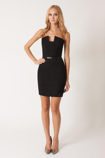 Black Halo Lena Mini Dress In Black, Size 4