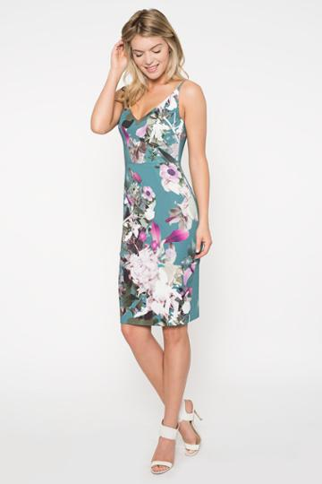 Black Halo  Jevette Sheath Dress In Water Bloom, Size 0