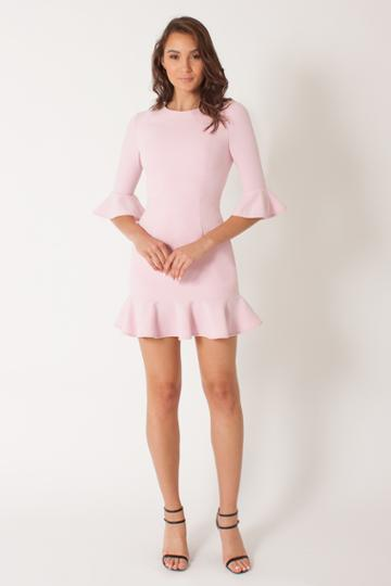Black Halo Brooklyn Dress In Ice Pink, Size 6