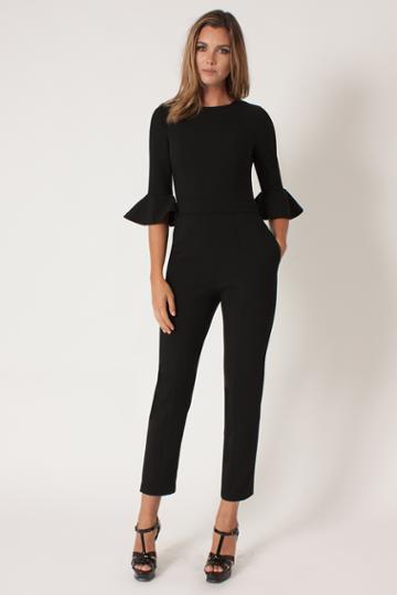 Black Halo Brooklyn Jumpsuit In Black, Size 0