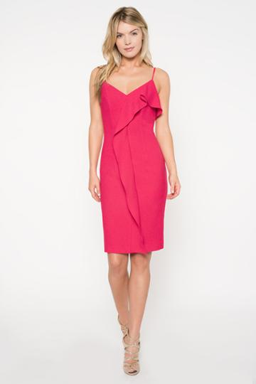 Black Halo Kiki Sheath Dress In Laguna Pink, Size 0