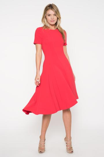 Black Halo Olcay Dress In Chic Red, Size 0