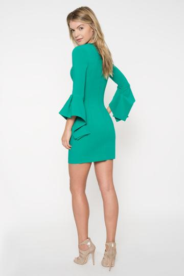 Black Halo Lorie Mini Dress In Agave Green, Size 0